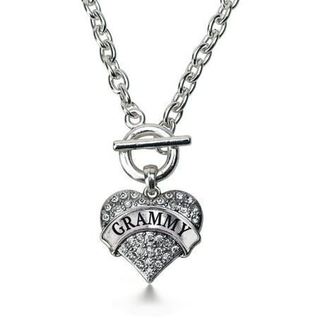 Grammy Pave Heart Toggle Necklace