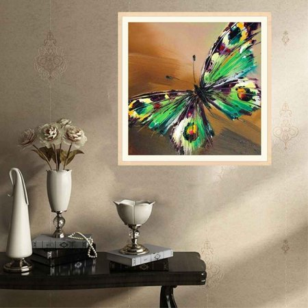 Butterfly Stitch - 5D Colorful Butterfly Resin Needlework Animals Resin Diamond Embroidery Cross Stitch Room Decoration Painting