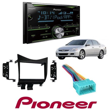 Pioneer FH-S700BS Double DIN CD MP3 Digital Media Player Bluetooth MIXTRAX AUX Input Metra 95-7862 Double DIN Installation Dash Kit for Honda Accord