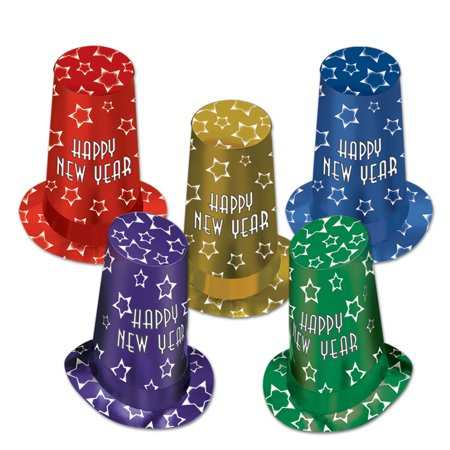 New Year Super Hi-Hats (Pack of 10) - image 1 of 1