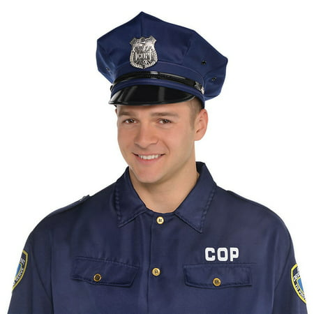 Deluxe Police Hat Adult Costume - Police Hat Costume