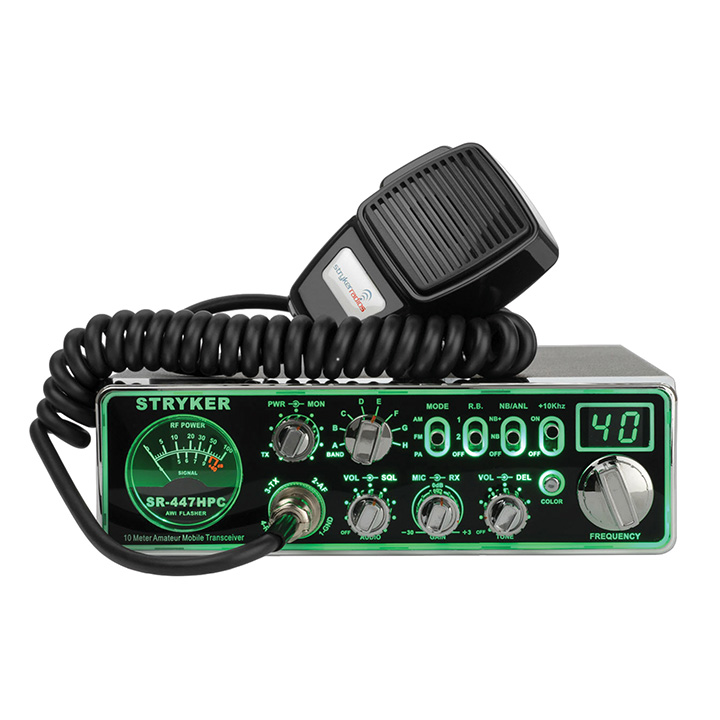 Stryker AM/FM 10M Radio w/7 Color LED Backlit Face Plate 90+ Watts Peak Output Power