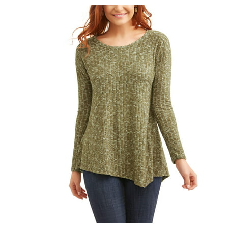 french laundry women 39 s long sleeve super soft assymetrical