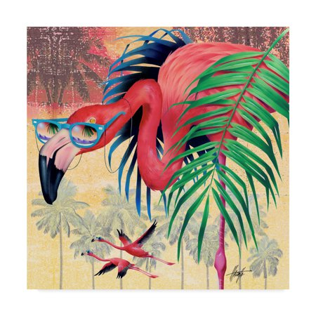Trademark Fine Art 'Cool Flamingoes' Canvas Art by James (James S Flamingo)