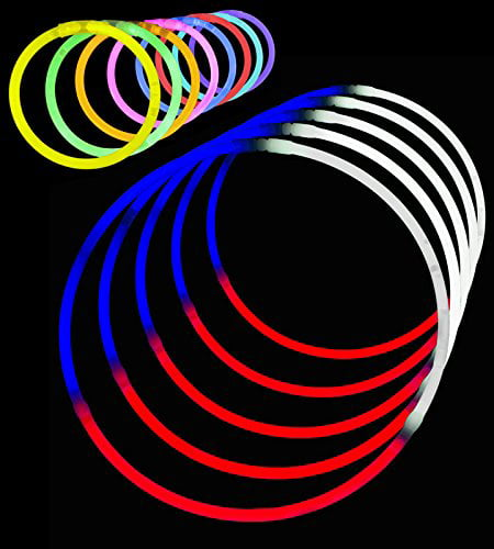 "Glow Sticks Bracelets Necklaces Parties 50 or 100 Coloured 8/"" Glowsticks"