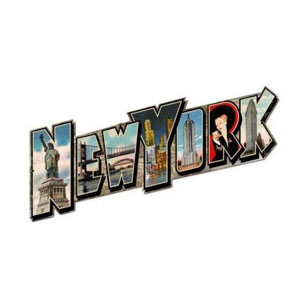 Past Time Signs PTS467 New York Landmarks Custom Metal Shape Sign - image 1 of 1