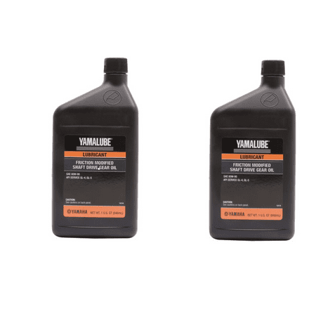 Shaft Drive Oil (Yamalube Friction-Modified Shaft Drive Gear Oil 80W-90 32 oz. 9 ( 2 Pack)