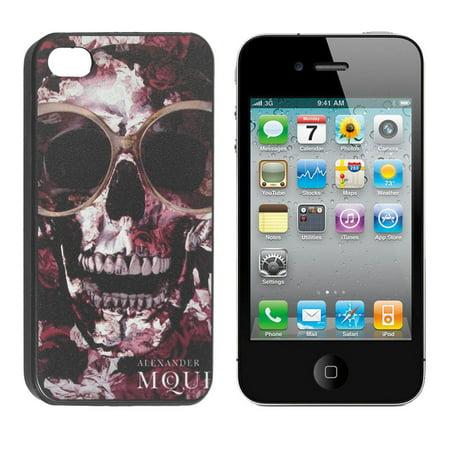 Protective Amaranth Black Skull Pattern Back Case Guard for iPhone 4G - image 1 de 1