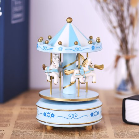 Merry-Go-Round Carousel Music Box Classical Melody Birthday Christmas Festival Musical Gift for Children Kids - image 2 of 6