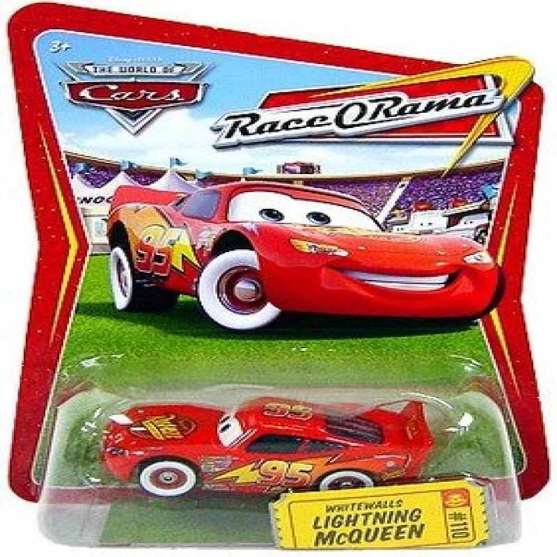 Disney / Pixar CARS Movie 1:55 Die Cast Car Series 4 Race-O-Rama Whitewalls Lightning McQueen