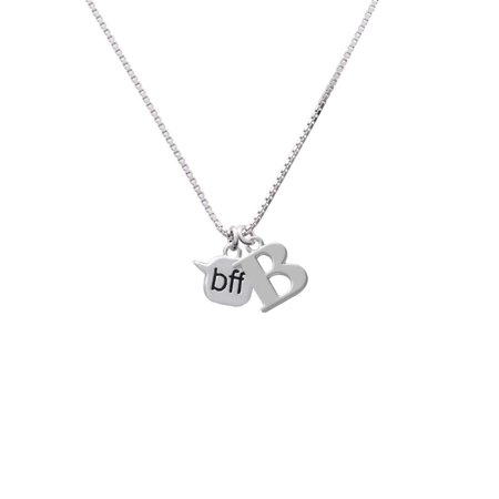 Silvertone Text Chat - bff - Best Friends Forever - B - Initial