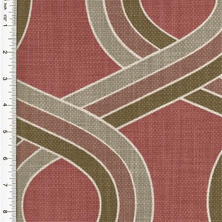 fabric print yard ogee decorating kaufmann fabrics designer decor sold brown cotton