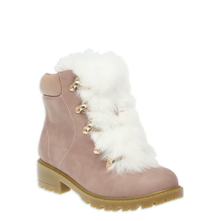 Wonder Nation Faux Fur Lined Lace-up Sneaker Boot (Little Girls & Big Girls)