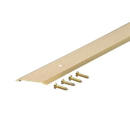 "M-D Products 09563 36"" Bright Gold Flat Top Saddle Thresholds"