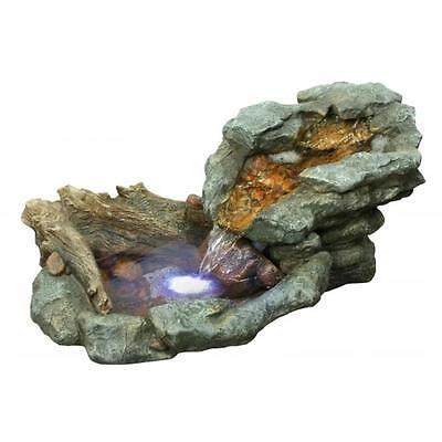 Garden Alpine Corp. WIN568 Rock Waterfall Fountian with LED Lights Water Pond... by GSS