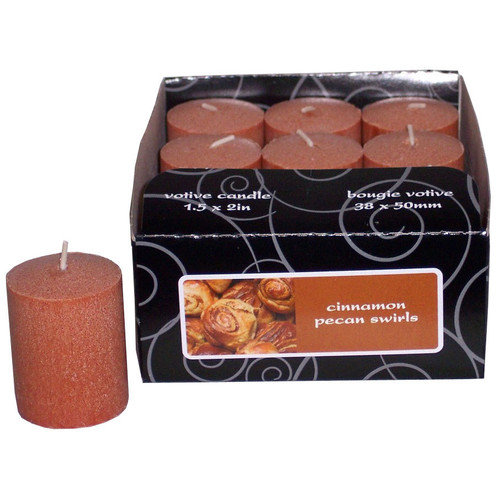 Fortune Products Candle-Lite Cinnamon Pecan Votive Candle (Set of 12)