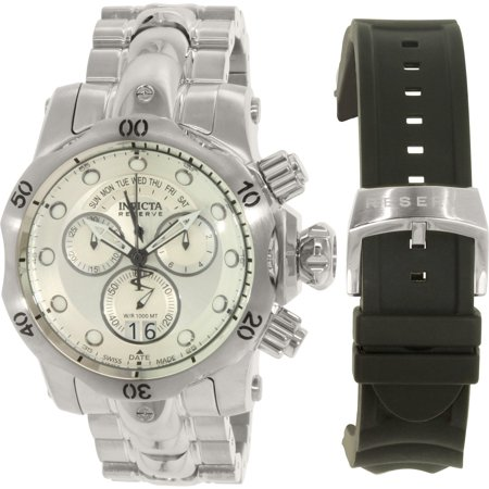 Invicta Men's Venom 1537 Silver Stainless-Steel Plated Swiss Chronograph Diving Watch