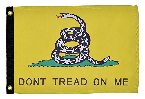 In the Breeze Dont Tread on Me Lustre Grommeted Boat Flag, 12 by 18-Inch by In The Breeze