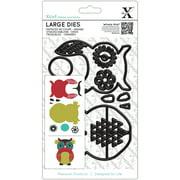 Xcut Decorative Dies Large 9/Pkg-Owl
