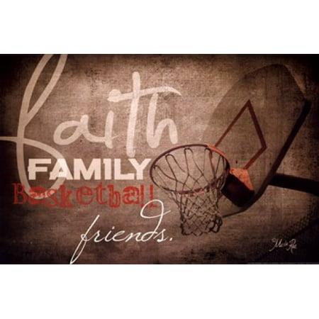 Faith Family Basketball Poster Print by Marla Rae (18 x