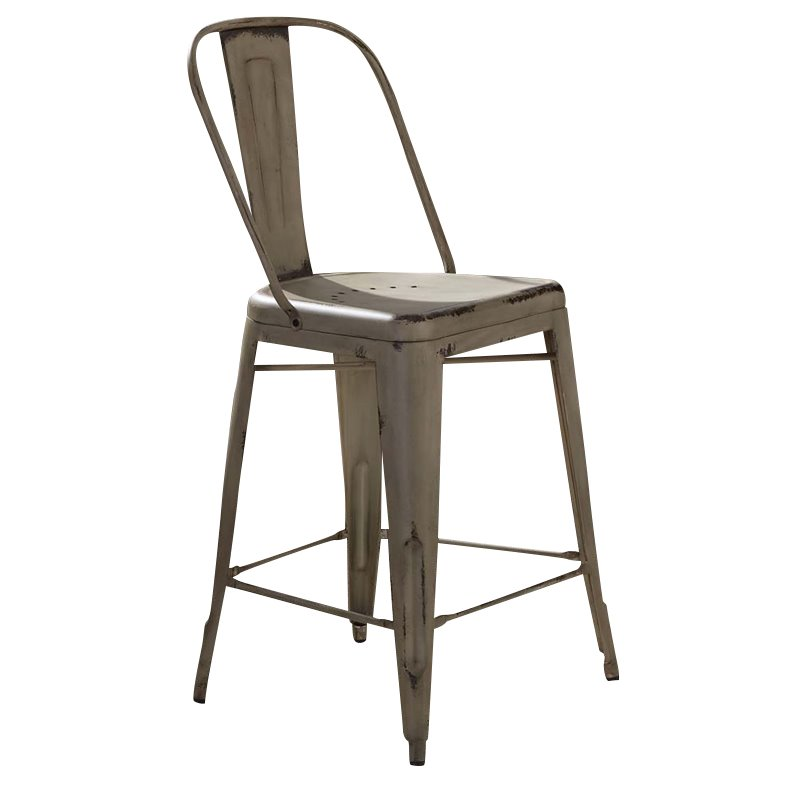 """Liberty Furniture Vintage 24"""" Metal Bow Back Counter Stool in White - image 1 de 2"""