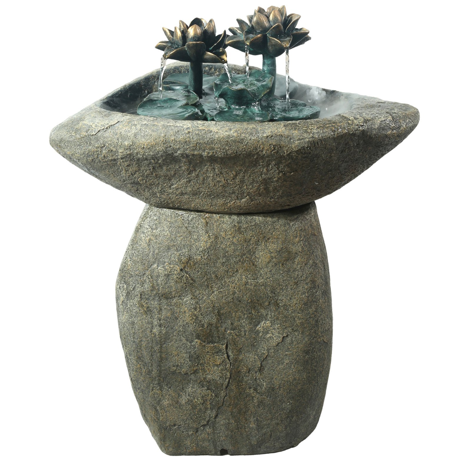 Lotus Rock LED Fountain by Alpine Corporation