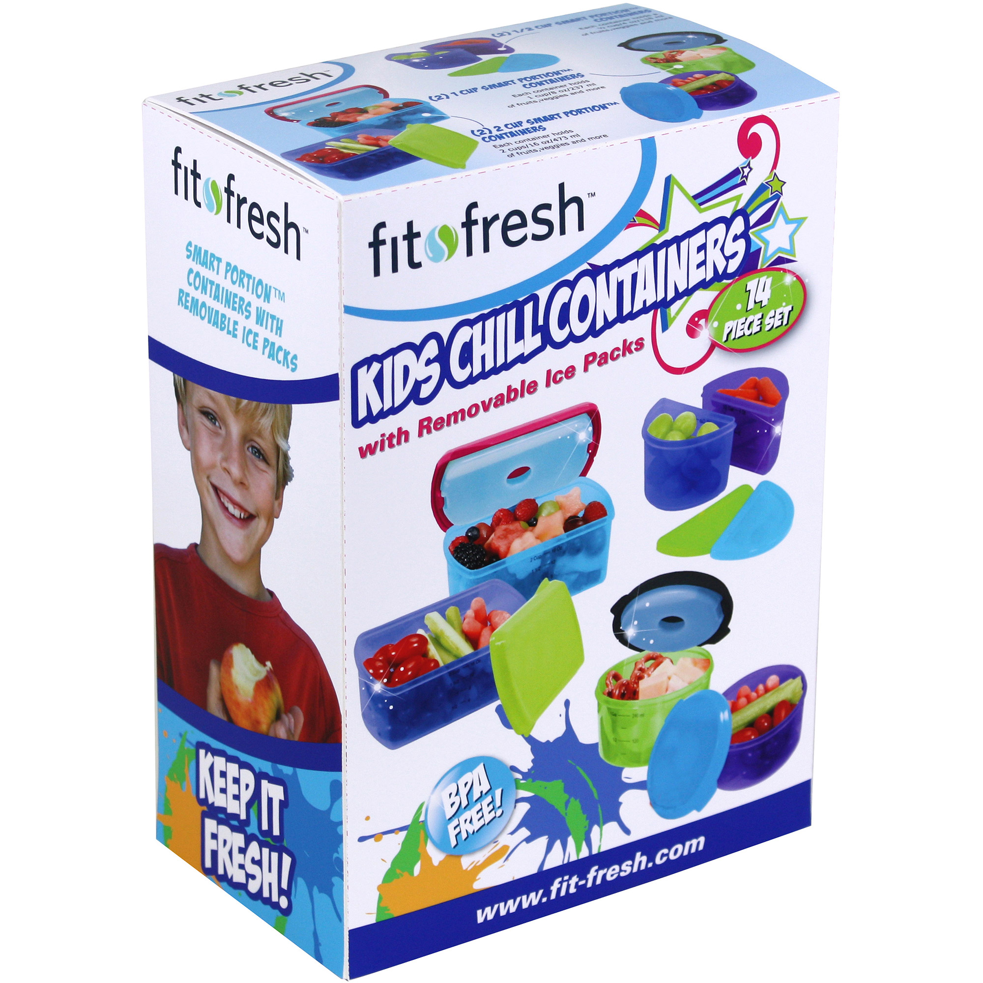 Fit & Fresh Kid's 6 Container Food Storage Set