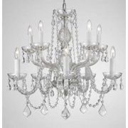 Gallery T40-134 Clear 10 Light 2 Tier Crystal Candle Style Chandelier