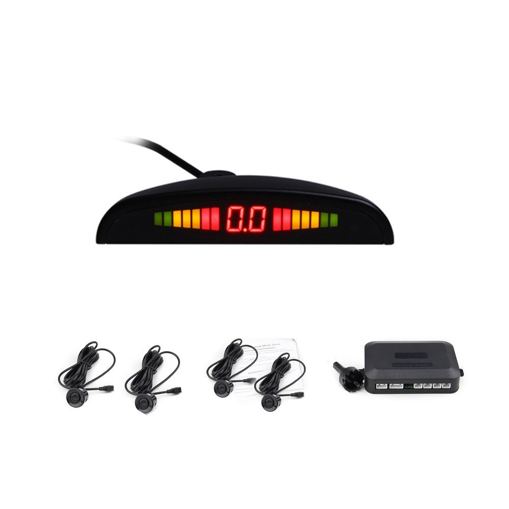 LED Digital Display Car Vehicle Parking Reverse Backup Ra...