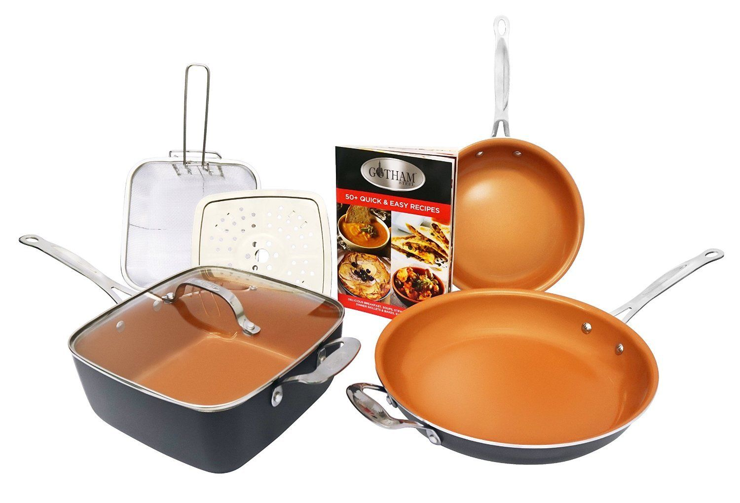 As Seen on TV Gotham Steel 7 piece Cookware Set by E Mishan and Sons Inc