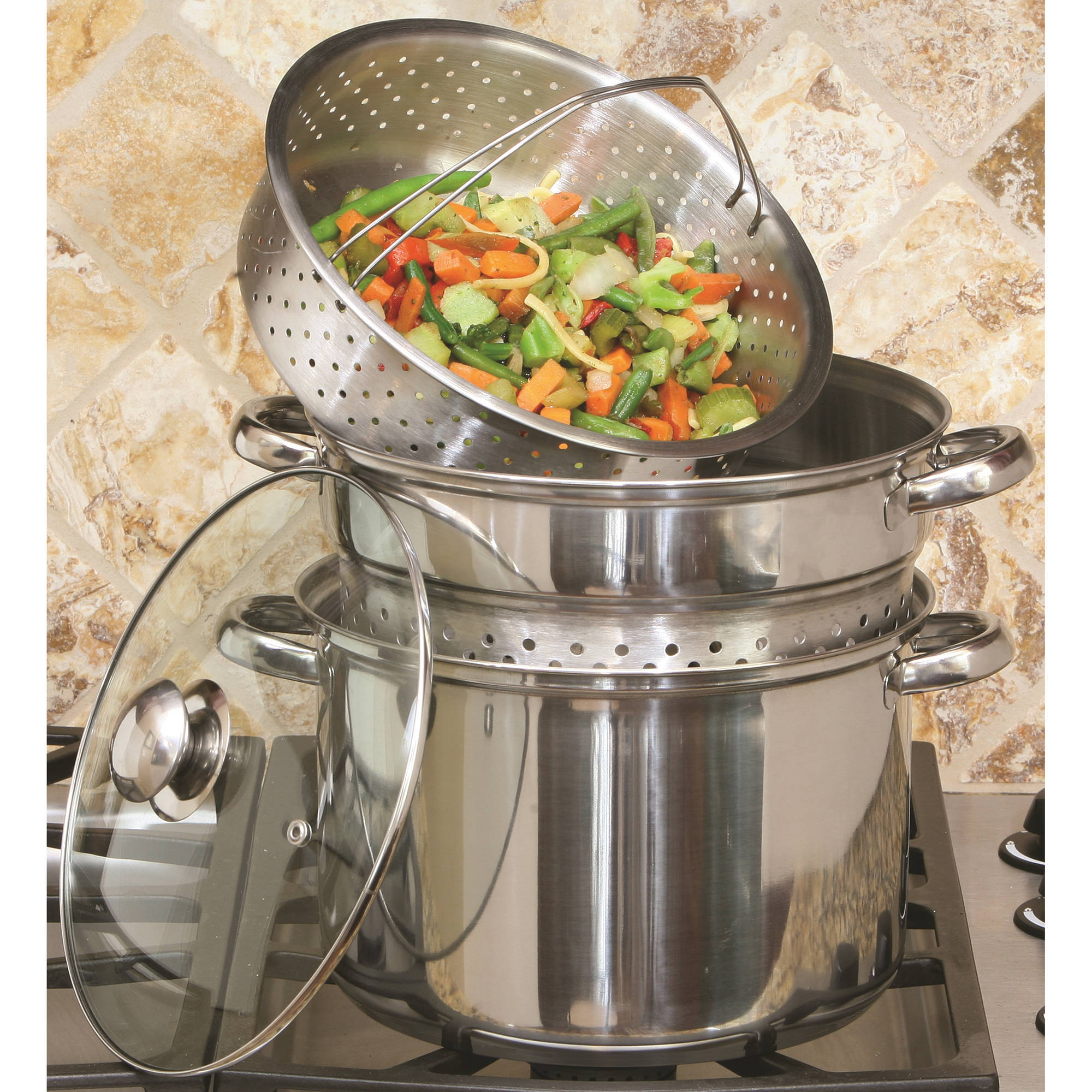 COOK PRO 8-Quart Stainless Steel Multi-Cooker
