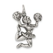Roy Rose Jewelry Sterling Silver Antiqued Cheerleader Charm