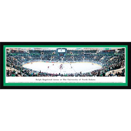 University of North Dakota Hockey - Face-Off at The Ralph - Blakeway Panoramas NCAA College Print with Select Frame and Single Mat