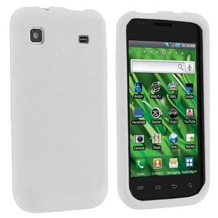 Silicone Skin Case for Samsung Galaxy S Vibrant T959 - White