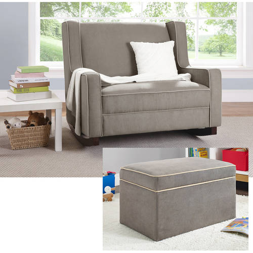 Baby Relax Hadley Double Rocker and Ottoman Bundle