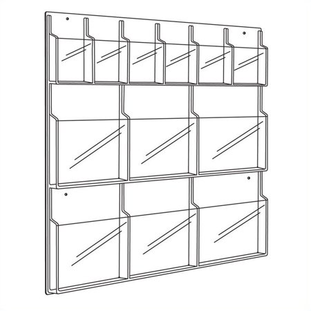 Safco 5606CL, d-pliant 6 et 6 magazines, affichage en transparence - image 1 de 2