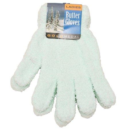 Aqua Brass Gold Mirror (Gold Medal Womens Aqua Solid Color Soft Fall Winter Butter Gloves )