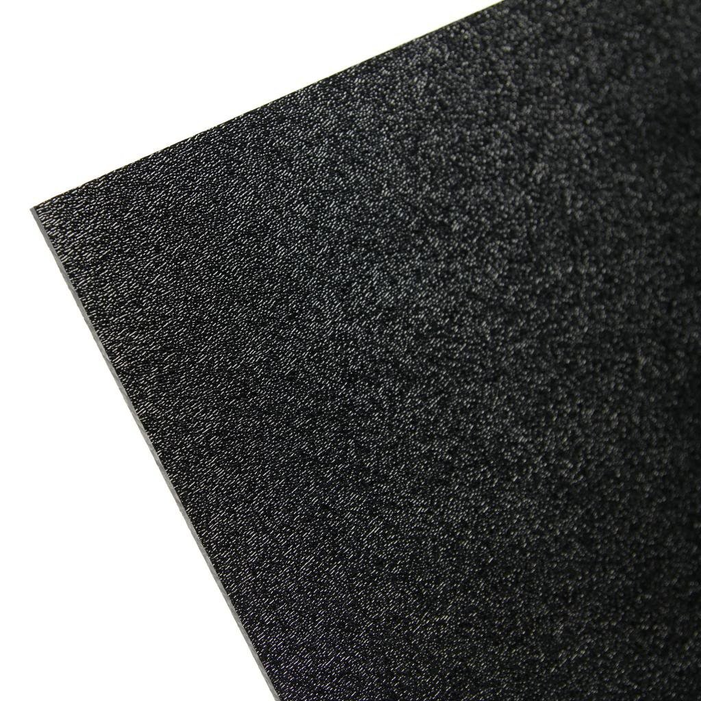 "ONE- BLACK ABS PLASTIC SHEET           1/8"" Thick     24"" X 48"" Nominal"