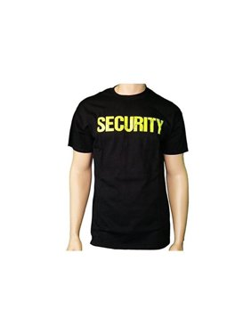 6b5fce426c02 Product Image 4X-Large Awesome Security T-Shirt Black Mens Neon Tee Staff  Even