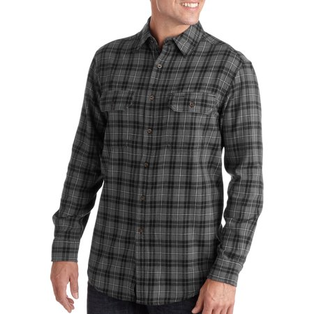Big and tall men 39 s long sleeve 2 pocket flannel shirt for Large tall flannel shirts