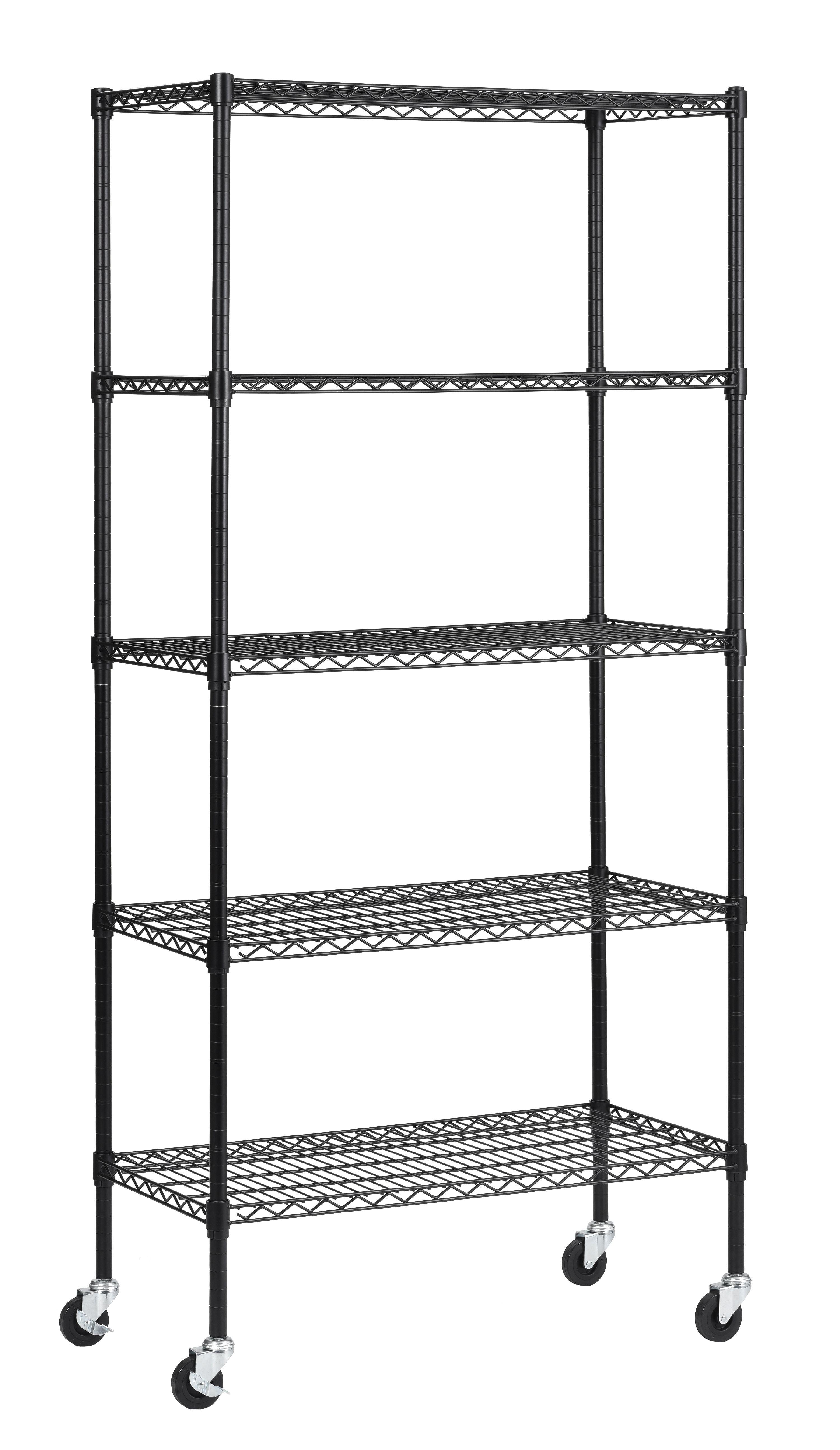 "New 5 Tier Wire Shelving Unit NSF Metal Shelf Rack 800 LBS Capacity 24""x18""x72"""