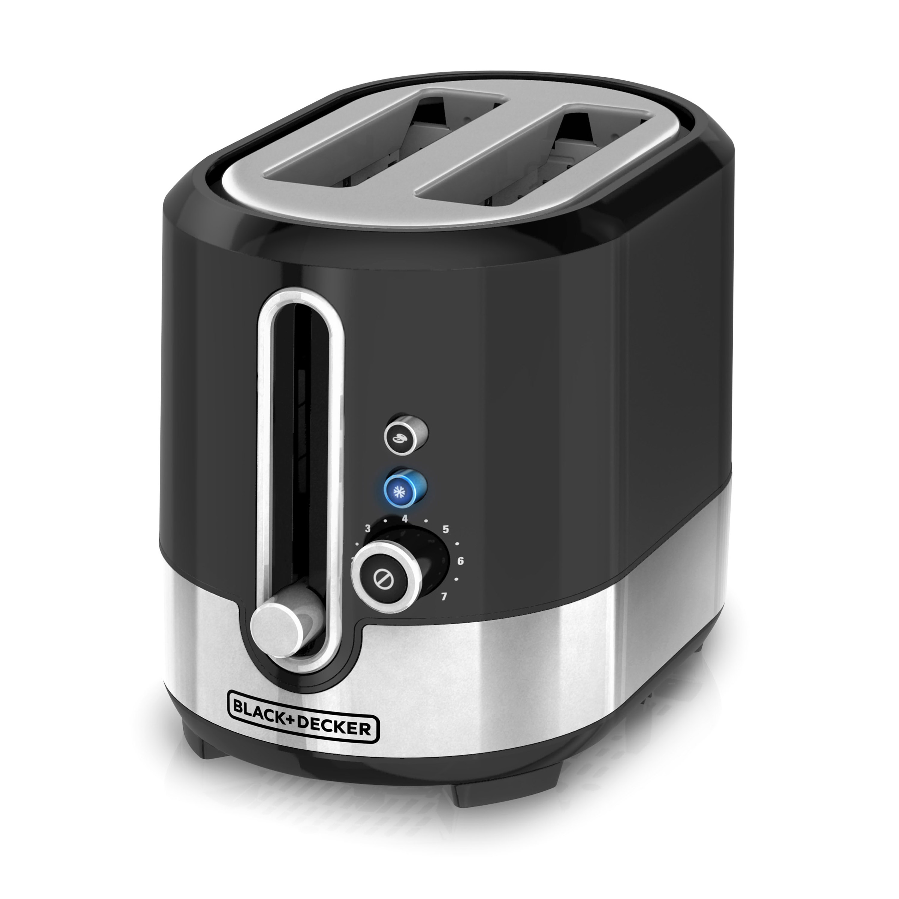BLACK+DECKER 2-Slice Extra Wide Slot Toaster, Black/Silver, TR2200SBD