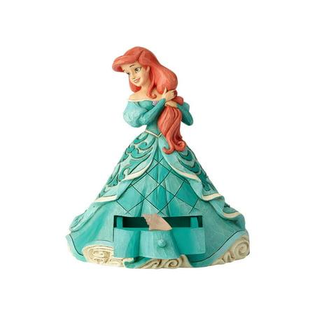 Jim Shore Disney 6000965 Ariel With Shell Charm 2018 - Jim Shore Halloween Disney