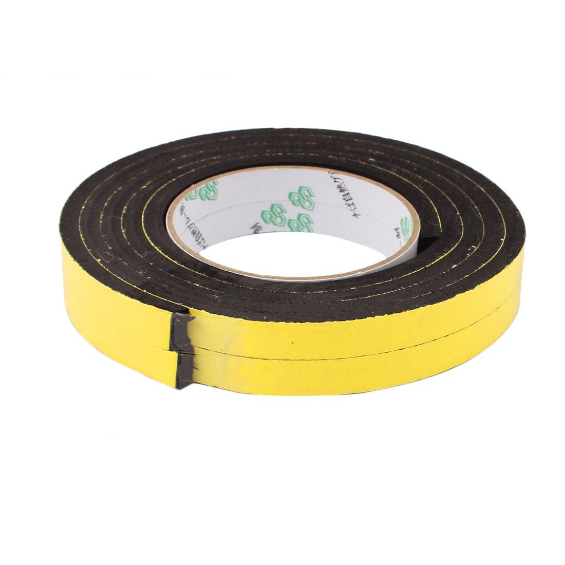 2 Pcs 12 x 6mm Single Sided Self Adhesive Shockproof Sponge Foam Tape 2M Length