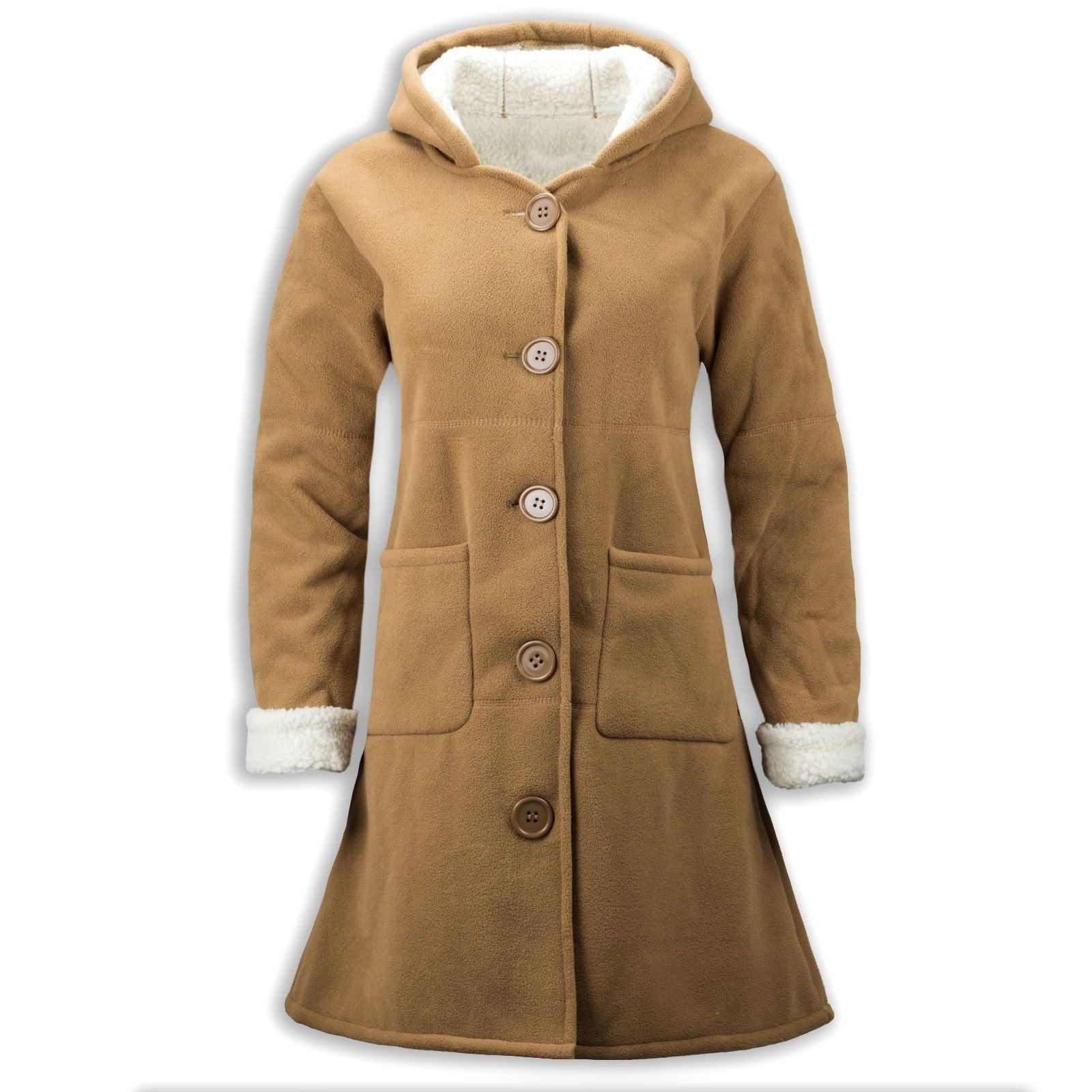 New Women Fashion Peacoat Fur Hoody Wool Heavy Weight Luxury Jacket by Womens Wool Coats