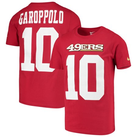 premium selection d65ab 9f7ec Jimmy Garoppolo San Francisco 49ers Nike Youth Player Pride 3.0 Name &  Number T-Shirt - Scarlet