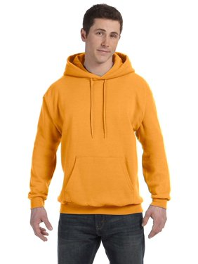 ComfortBlend; Eco Smart; Pullover Hoodie Sweatshirt, Color: Yellow, Size: 2XL --- PACK OF 2 (Men's Athleticwear)