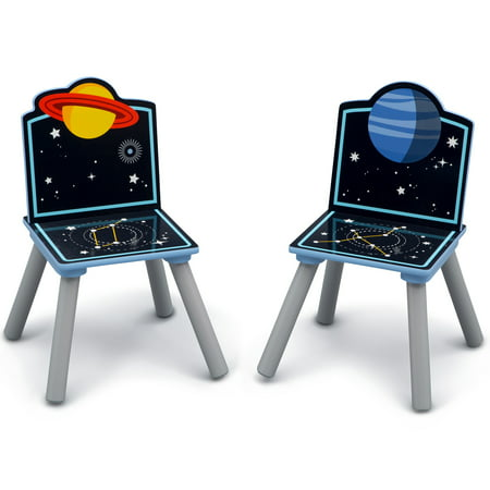 Delta Children Space Adventures Kids Wood Table and Chair Set with Storage