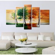 The Lighting Store Hand-painted 'Four Seasons' 5-piece Gallery-wrapped Canvas Art Set