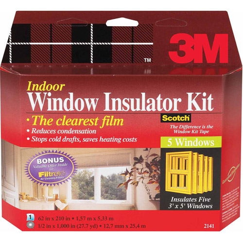 3M 2141W-6 Interior Shrink Film Window Kit